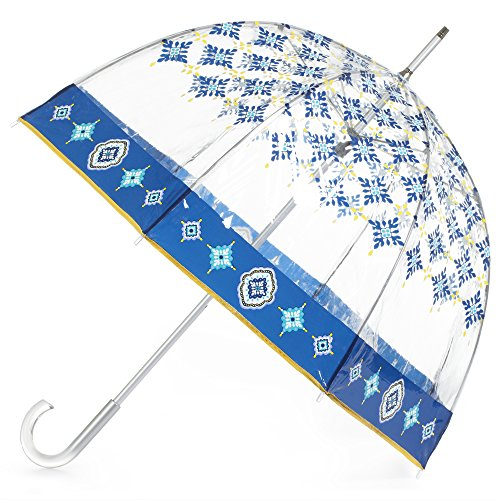 totes Signature Bubble Umbrella - Manual Open, One Size - Nordic Tiles