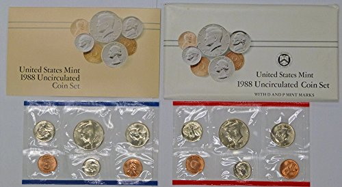 1988 P & D Mint Set Uncirculated Coin Set - 1988 Mint