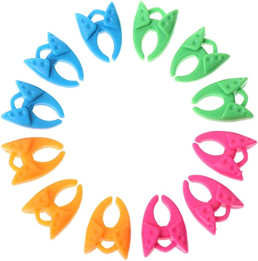12 Pieces Assorted Color Silicone Thread Clips Bobbin Holders Clamps Tool