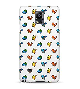8 Bit Pixel Pokemons Pikachu Squirtle Bulbasaur Charmander Gameboy Hard Plastic Snap On Back Case Cover For Samsung Galaxy Note 4 Carcasa