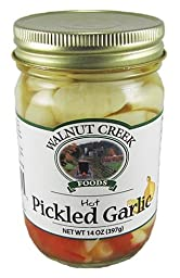 Walnut Creek Amish Country Hot Pickled Garlic 14 Oz Jar