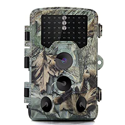 iRULU Trail Hunting Camera, 16MP 1080P HD 2.3inch LCD Screen, 8 Megapixel CMOS sensor, 46pcs 940nm IR LEDs, 0.2s Trigger Time, IP56 Waterproof for Hunting Scouting Wildlife Monitoring Home Security