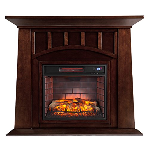 Southern Enterprises Lowery Infrared Electric Fireplace, Espresso -