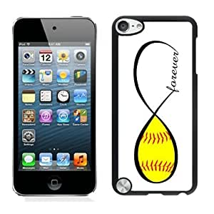 Pop Diy For Iphone 6 Case Cover Sports Fan Soft Silicone PC Black Cover for Ipod 5th Generations Softball Forever Softball Infinity Forever