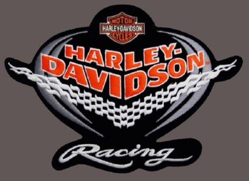 HARLEY DAVIDSON RARE CHECKER RACING PATCH 7 1/2 INCH PATCH for Accessories - Bags/Purses, Apparel - Coat/Jacket, Apparel - Jeans/Pants, Children, Crafts