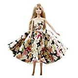 Peregrine Spring Floral Prom Dress for Barbie Doll