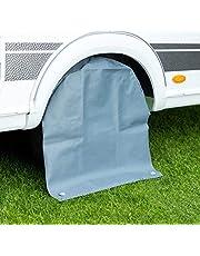 Cartrend 10685 Caravan Caravan Caravan wielhoes XL wielbescherming bandenafdekking bandentas waterdicht, voor 15 tot 17 inch bandenmaat