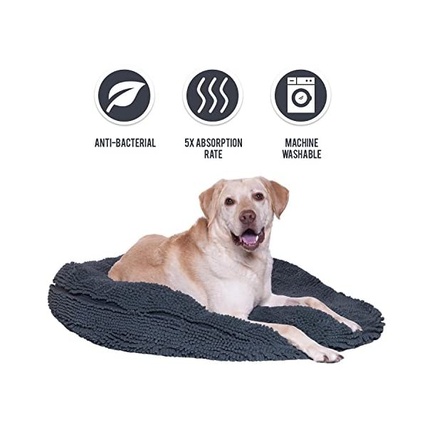 "My Doggy Place - Ultra Absorbent, Soft Comfort, Microfiber Chenille Dog Bed Cushion Mat, Durable, Quick Drying, Washable (Gray, Extra Large (36"" x 6"")) 1"
