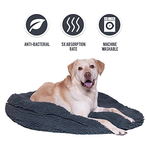 - My Doggy Place - Ultra Absorbent, Soft Comfort, Microfiber Chenille Dog Bed Cushion Mat, Durable, Quick Drying, Washable (Gray, Giant (42