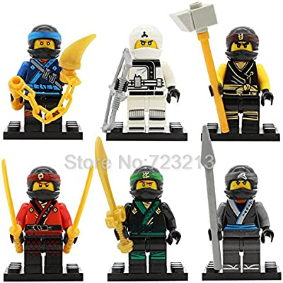 Amazon.com: 6pcs/lot Ninja Figure Set Kai/Cole/Jay/Lloyd/Nya ...