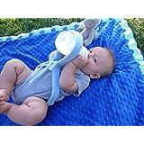 Baby Bottle Holder, Hands Free Feeding Blue
