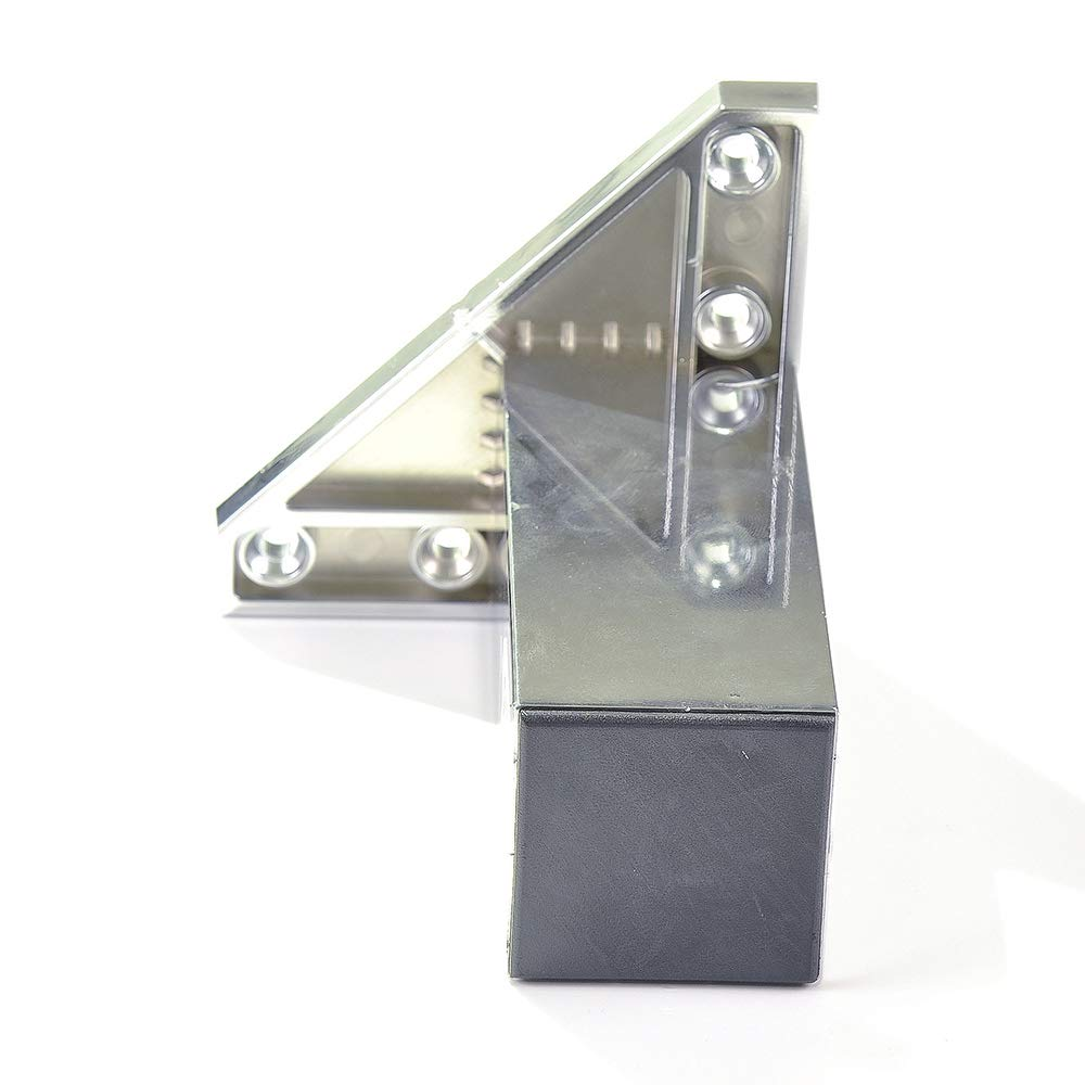 Pata pie cuadrada para Mueble en resina plastica abs ANTICORROSION 40x40mm altura 100mm blanco con Tap/ón contera 4 un