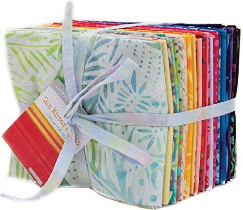 Moda Fabric Batik - Sun Kissed Batiks 32 Fat Quarter Bundle Moda Fabrics 4347AB