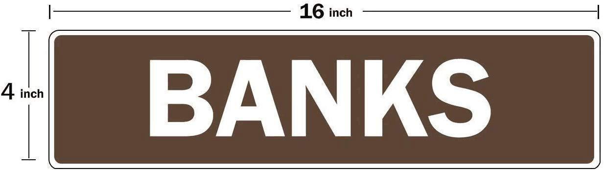 INGA Yard Street Signs 10,2 x 40,6 cm Ride with Us Cartello Verticale Personalizzabile con Cognome della Squadra di Sci
