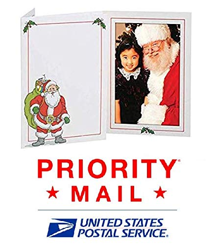 Santa Claus 4x6 Photo Folder - Pack of 100 folders (Slide-in Insert Type). These Beautiful Holiday Photo folders are Great for Christmas Parties and Santa Portraits! by Eventprinters