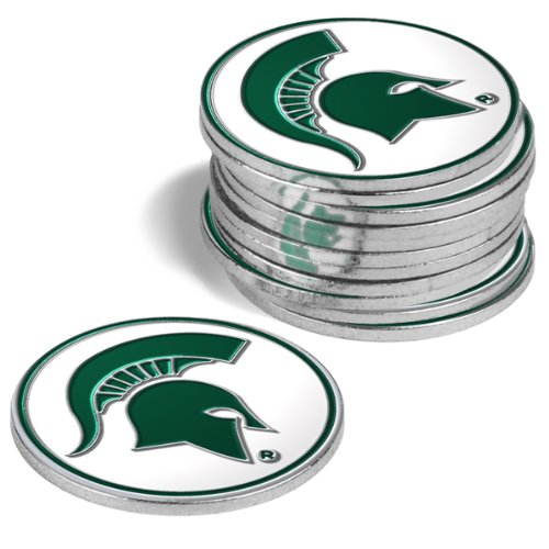 Michigan State Spartans Golf Ball Markers (4 ()