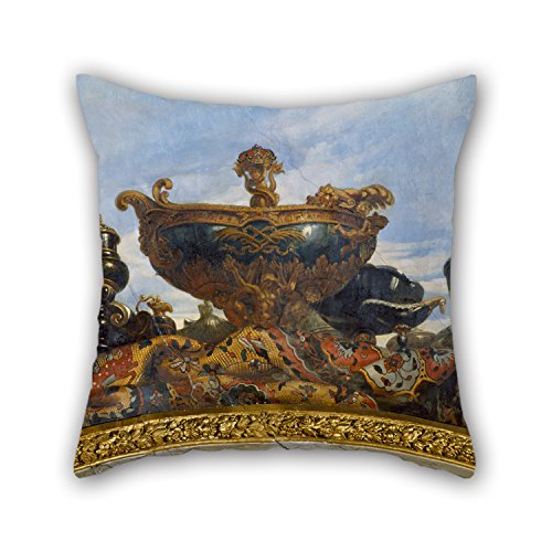 [20 X 20 Inches / 50 By 50 Cm Oil Painting René Antoine Houasse - Voussure, La Nef De Louis XIV Throw Cushion Covers,2 Sides Is Fit For Kids,teens Boys,boys,wife,kids Room,play] (Simple Creative Costumes)