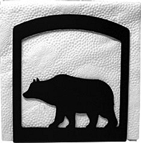 - Iron Bear Table Napkin Holder - Heavy Duty Metal Serviette Dispenser, Cocktail Napkin Holder