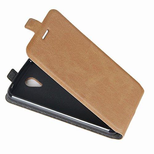 OFU® Para ZTE Blade A520 5.0 Funda,PU Hybrid Card Carry Pocket Wallet Slot,Cartera Cuero Funda de Piel Wallet Case para ZTE Blade A520 5.0 Carcasa Flip Case Cover(blanco) marrón