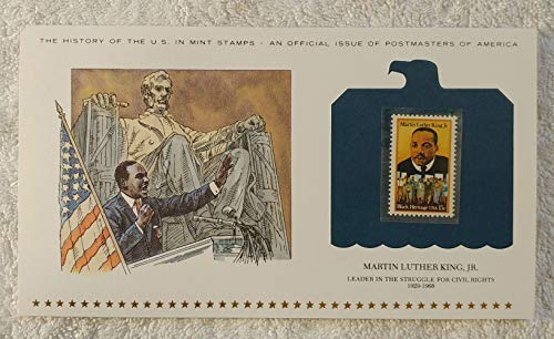 Martin Luther King, Jr - Leader in the Struggle for Civil Rights - Postage Stamp (1979) & Art Panel - History of the United States: an official issue of Postmasters of America - Limited Edition, 1979