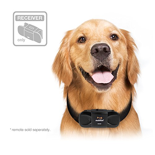 multifun Upgraded Remote Dog Training Collar, Rechargeable Electronic Collar, All-Weather Resistant Dog Shock Collar with Beep Vibration and Shock Electric Collar Dogs - Only Receiver