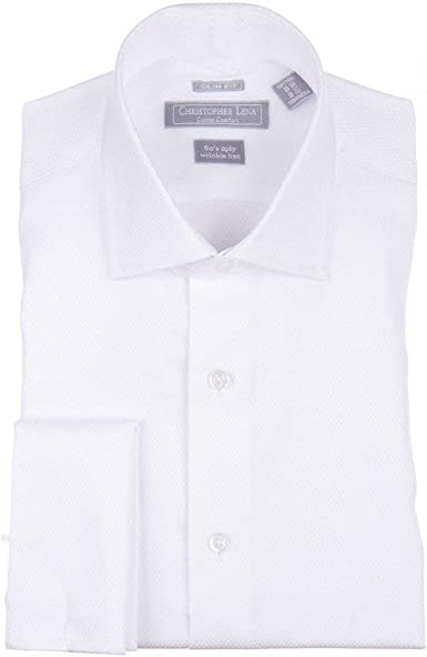Christopher Lena - Camisa de Esmoquin Formal con Cuello abatible ...