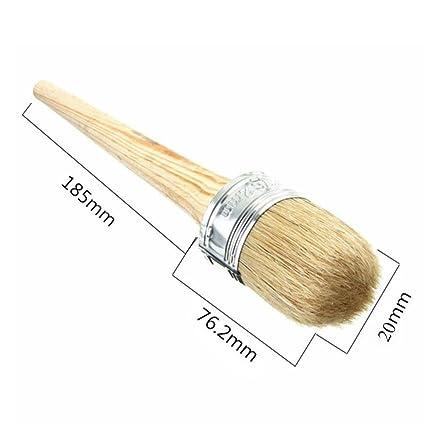 Hair Wooden 40mm Oil Chalk Bristle Round Wax Brush Paint