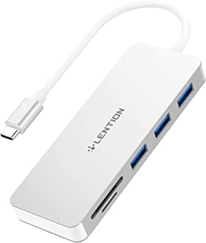 Thunderbolt 3 Chromebook SD//Micro SD Card Readers and Charging Adapter Compatible MacBook Pro 13//15 Surface Book 2//Go LENTION USB C Hub with 4K HDMI More Space Gray 2018 2019 Mac Air 3 USB A