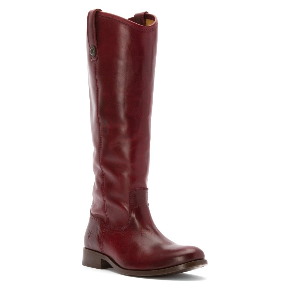 FRYE Women's Melissa Button Boot, Bordeaux Soft Vintage Leather, 8.5 M US