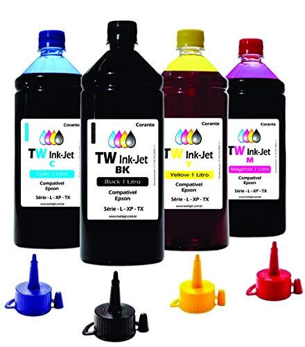 4 Litros de Tinta Para Epson EcoTank L4160 L6161 TW Ink-Jet