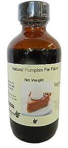 OliveNation Natural Pumpkin Pie Flavor, Sugar Free Spiced Pumpkin Flavoring for Sugar Free or Savory Baked Goods, Cakes, Beverages, Non-GMO, Gluten Free, Kosher, Vegan - 4 ounces