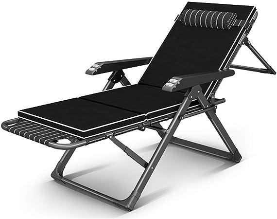 XEWNEG Chaise Longue De Jardín Ajustable, Reclinable con Almohada Cama Portátil para Tomar El Sol Piscina Al Aire Libre Piscina En El Patio (Color : B): Amazon.es: Hogar