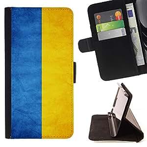 Momo Phone Case / Flip Funda de Cuero Case Cover - Nacional bandera de la nación País Ucrania; - Samsung Galaxy Core Prime