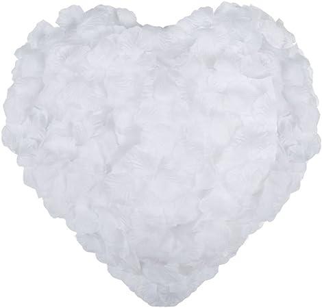 Confettis Naler D/écorations de la F/ête 2000pcs P/étales de Rose de Soie Artificielle pour No/ël Table Scatter Blanc Fleurs de Mariage