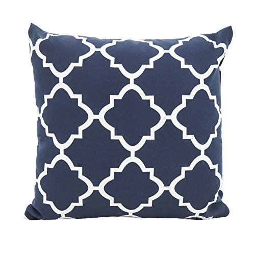 (SARO LIFESTYLE Outdoor Collection Poly Filled Moroccan Tile Throw Pillow, 17