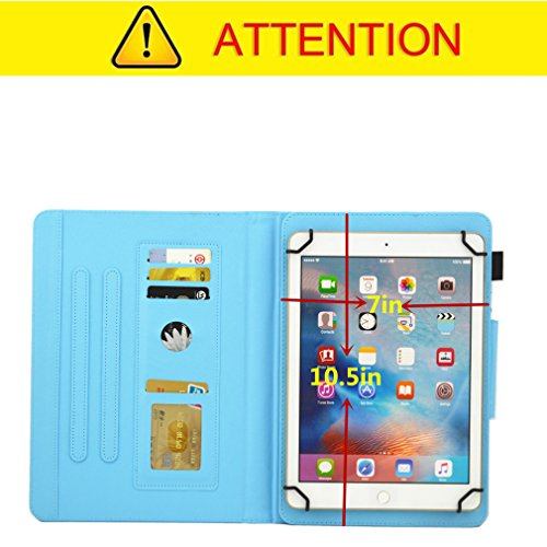 Slot Thin Pattern Pu Pad Tablet For 10 Of Foldable Case Love Bookstyle General Heart Purpose Stand Card Lmfulm Leather 14 Magnetic Color Closure Inch Ultra vBWnRpf