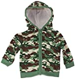 Baby Boutique Camo Velour Hooded Sweater, Sizes:Newborn-12 mths