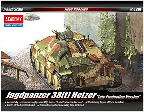 Academy Jagdpanzer 38(t) Hetzer Late Version Military Land Vehicle Model Building Kit from Academy Models
