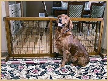 57f61619ad0 Carlson Pet Products Premium Hardwood Freestanding   Pressure Mount Extra  Wide Pet Gate - Black -