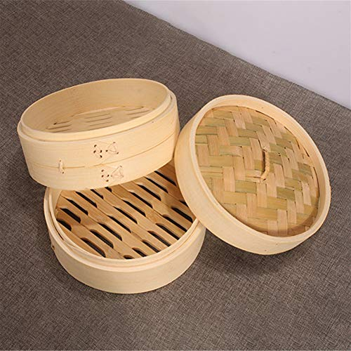 Gano Zen One Cage and One Cover Cooking Bamboo Steamer - Fish Rice Vegetable Snack Basket Set Kitchen - Cooking Tools by Gano Zen (Image #4)