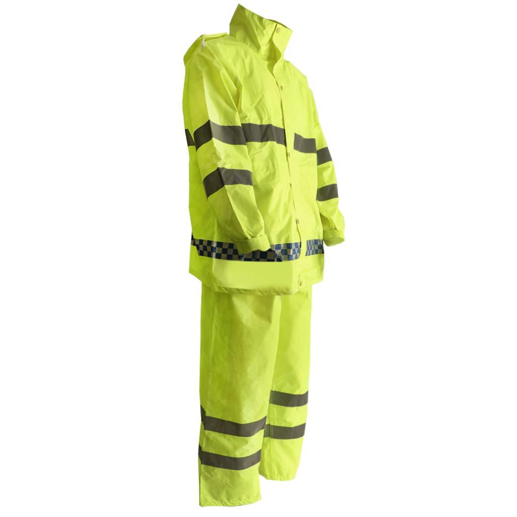 Flameer Reflective Raincoat Waterproof Rainwear Hood Jacket Outdoor Coat Pants Zipper Design - XXL by Flameer (Image #10)