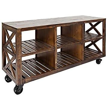 Jofran 1694-60, Loftworks, 60 Trolley Cart, 60 W X 19 D X 32 H, Loftworks Finish, Set of 1