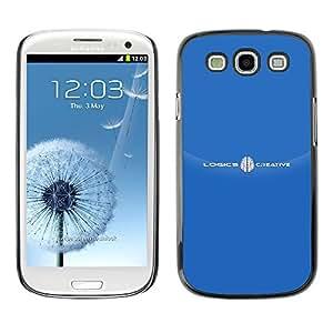 Paccase / SLIM PC / Aliminium Casa Carcasa Funda Case Cover para - Brand White Text Logo - Samsung Galaxy S3 I9300