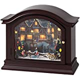 Mr. Christmas Illuminated Mantel Music Box, Skaters