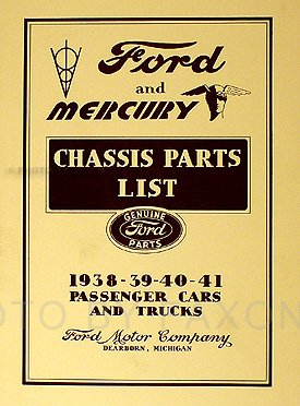 Ford Chassis Parts - 1938-1941 Ford and Mercury Chassis Parts Book Reprint Cars & Trucks