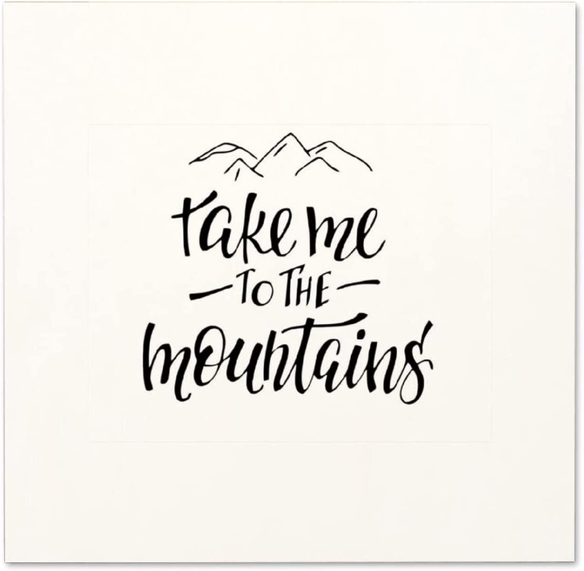 Free Brand Wood Sign - Take Me to The Mountains Rustic Decor Wooden Retro Farmhouse Wall Decoration