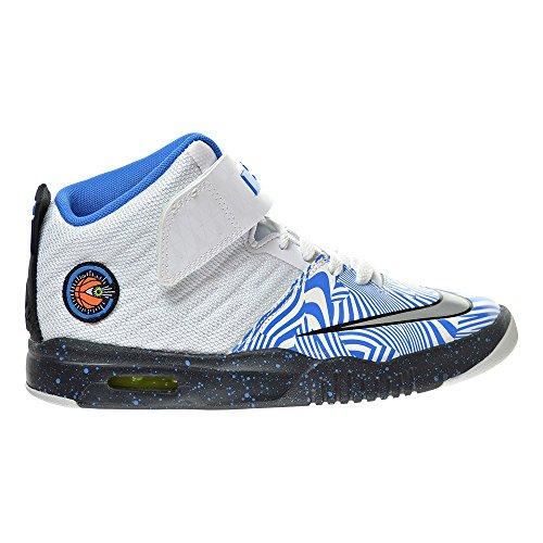 Nike Air Akronite (gs) Blanco / Azul / Plateado (4.5y)