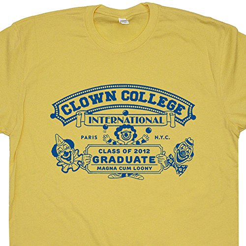 (M - Clown College Graduate T Shirt Funny Vintage Humor Circus Tee Class Mask Shoes Wig Nose Pennywise The Poster)