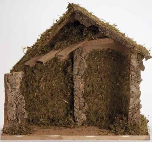 Fontanini 12'' Mossy Italian Style Religious Christmas Nativity Stable By Roman