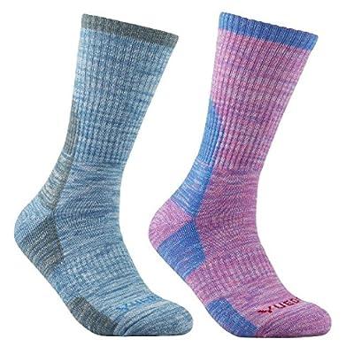 YUEDGE Women's Wicking Cushion Anti Blister Outdoor Multi Performance Crew Socks